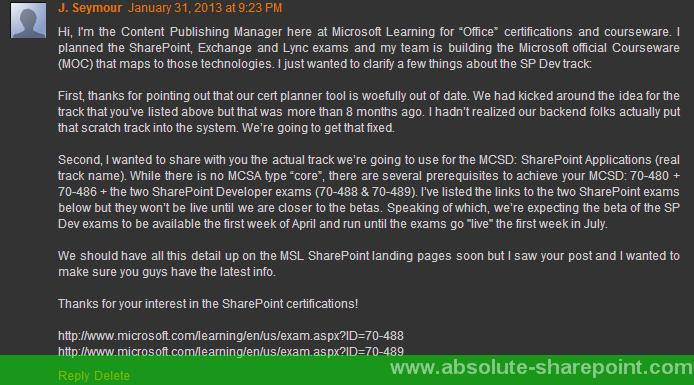 Three New Facts on the SharePoint 2013 MCSD Certification! – A Name ...