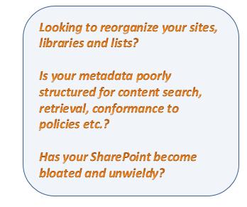 SharePoint Information Organizer