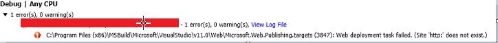 Web deployment task failed.