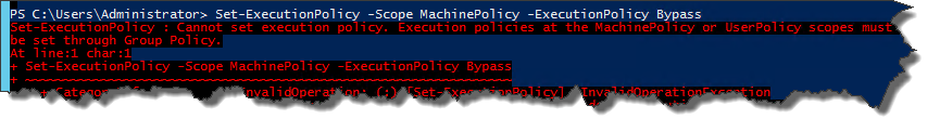 PowerShell MachinePolicy Execution Policy