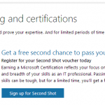 Microsoft Exam Second Shot is back Until May 31 2014!