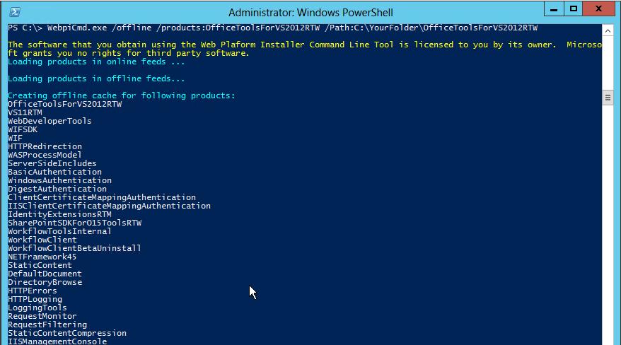 Offline install of Office Developer Tools
