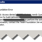 TFS215106: Access Denied. <Username> needs Queue builds permissions.