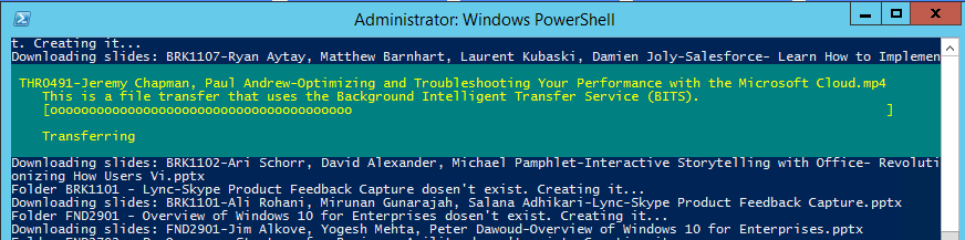 Download Microsoft Ignite videos PowerShell