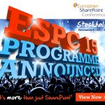 I'm speaking at the European SharePoint Conference 2015