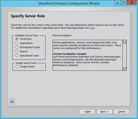 SharePoint 2016 Preview Minrole