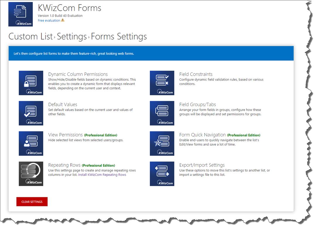KWizCom Forms App