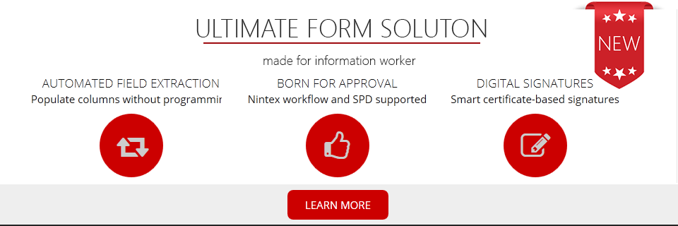 Review of PDF Share Forms Information Worker