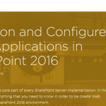 New Pluralsight Course: Provision and Configure Web Applications in SharePoint 2016