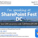 Speaking at SharePoint Fest D.C. 2017