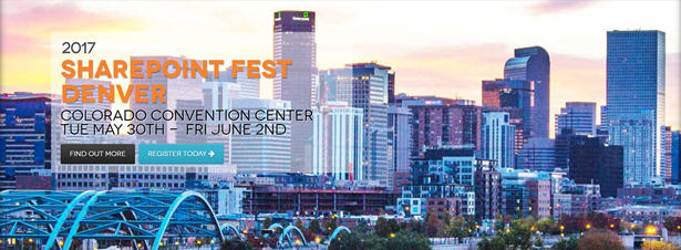 Speaking at SharePoint Fest Denver
