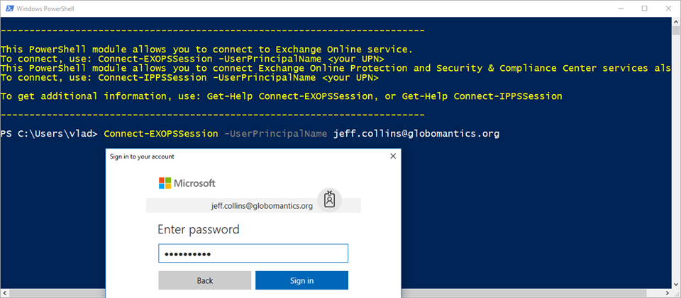 Connecting to all Office 365 Services with PowerShell and Multi Factor Authentication