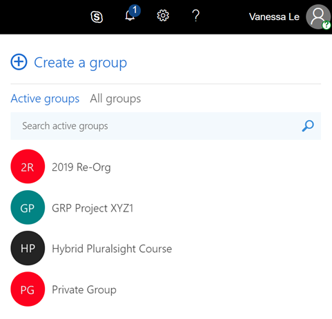 Secret Office 365 Group