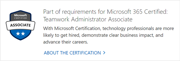 Certifications for SharePoint 2019 & Office 365 Teamwork are out!